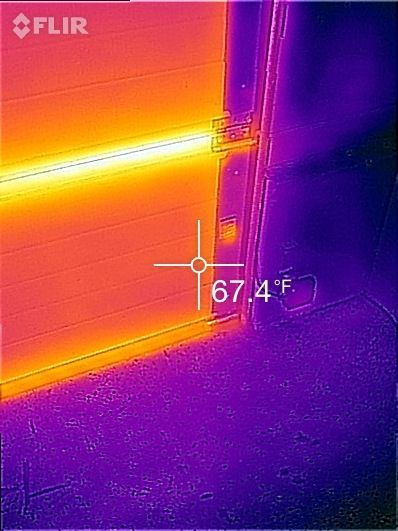 Reliance-Home-Inspection-Thermal-Inspection-Image-Garage-Door-Energy-Loss